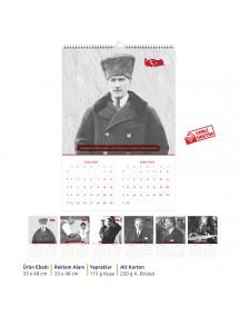 Duvar Takvimi (6 Yaprak) Atatürk