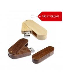 Ahşap Gövdeli Döner USB Bellek