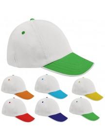 Biyeli Renkli Siper Şapka